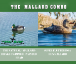 The Mallard Combo Sale - Super Flutter Mallard Hen and a Natural Swimmer with Painted Head