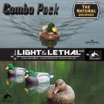 The NATURAL Swimmer and Light & Lethal Combo - ALL FLOCKED GREEN HEADS